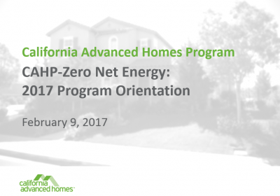 TRAINING: 2017 CAHP-ZNE Orientation Webinar
