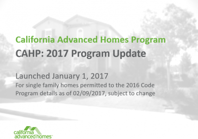 TRAINING: 2017 CAHP Orientation Webinar